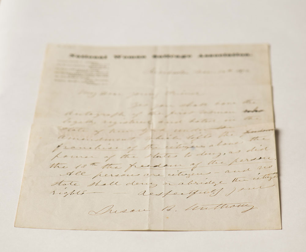 photo of 19th century letter