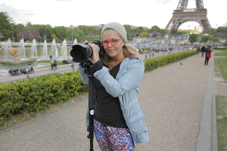 Taryn Brumfitt, director of Embrace, behind the scenes in Paris