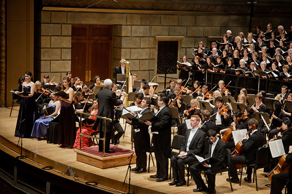 musicians on stage at Kodak Hall