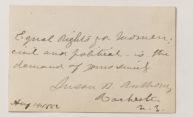 Signature of Susan B. Anthony