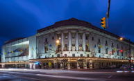Eastman Theatre at night