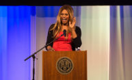 Laverne Cox at UR podium