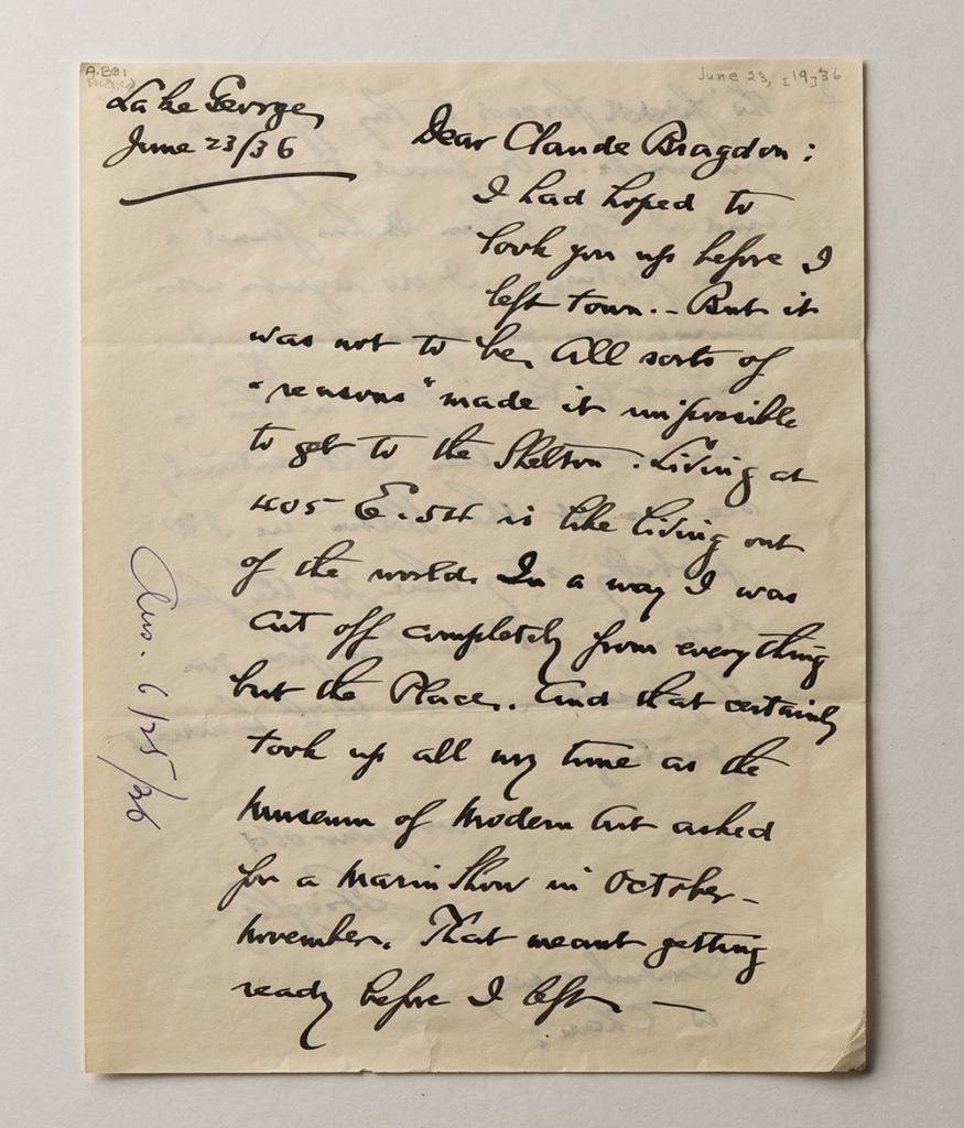 photo of handwritten letter