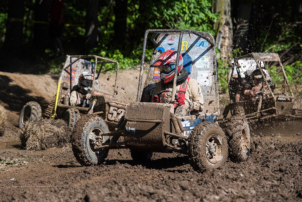Baja racer in mud