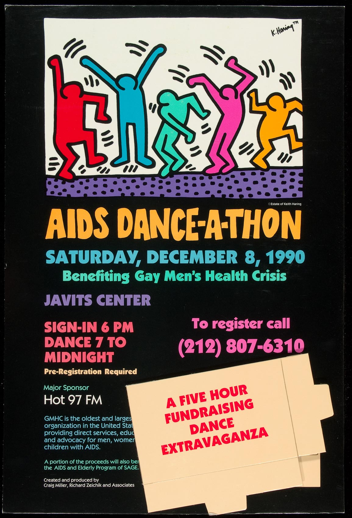 AIDS poster for a Dance-a-thon event