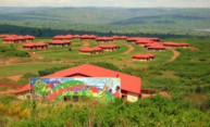 The Agahozo-Shalom Youth Village in Rwanda. The building in the forefront houses the dining services and Family Library. Photo credit: Ian Manzi '18.