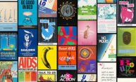 collage of AIDS posters