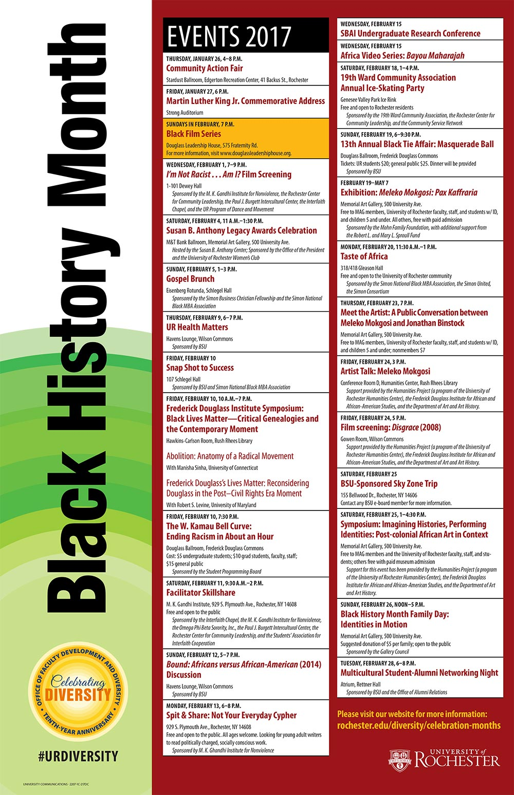 post image listing Black HIstory Month events