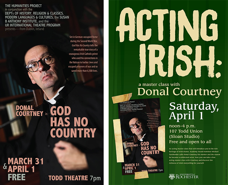 Irish actor tells a story with God Has No Country : NewsCenter
