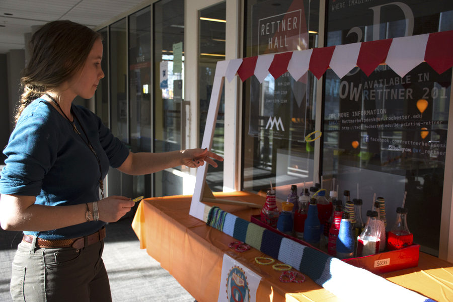woman playing ring toss