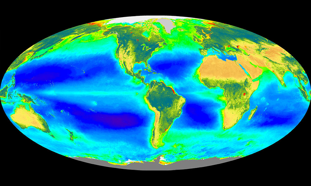 heat map of earth's oceans