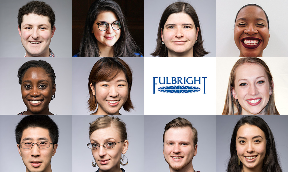 collage of images of students with Fulbright logo
