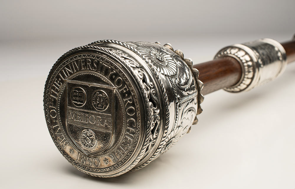 closeup of the ceremonial mace