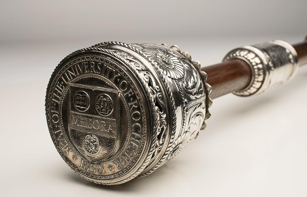 closeup of the ceremonial mace