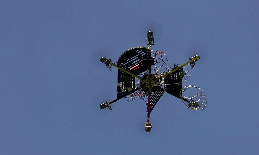 quad copter in the sky