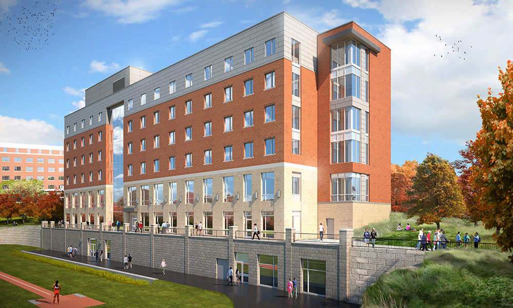 artist rendering of Genesee Hall