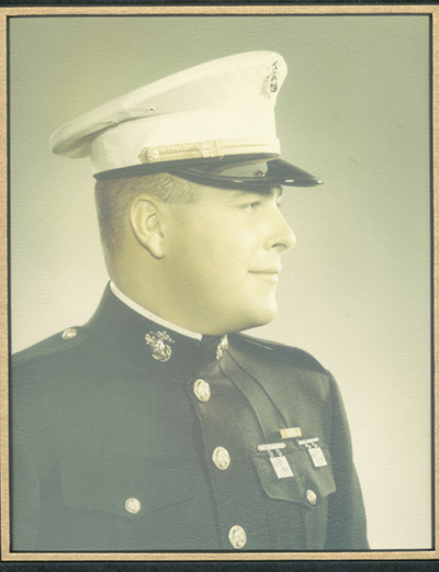 portrait of Marine in uniform