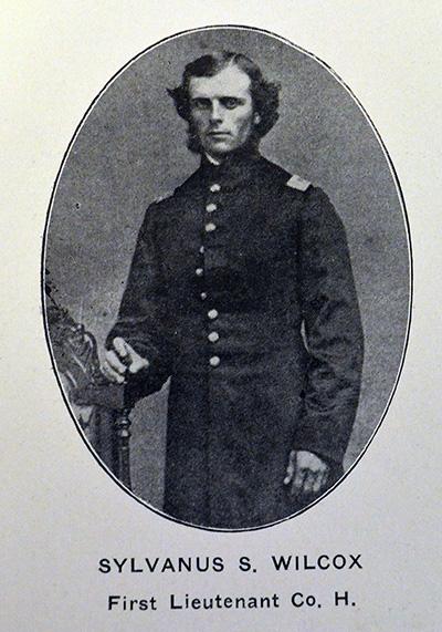 portrait of Sylvanus Wilcox in uniform