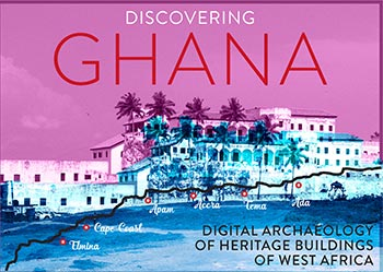 Image of a Ghanaian fort with the test DISCOVER GHANA
