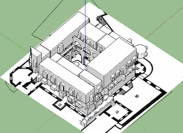 computer model of a building