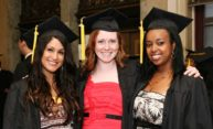 Three female Simon Business School graduates