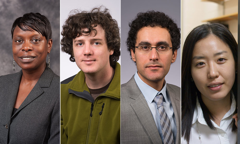 four portraits of faculty