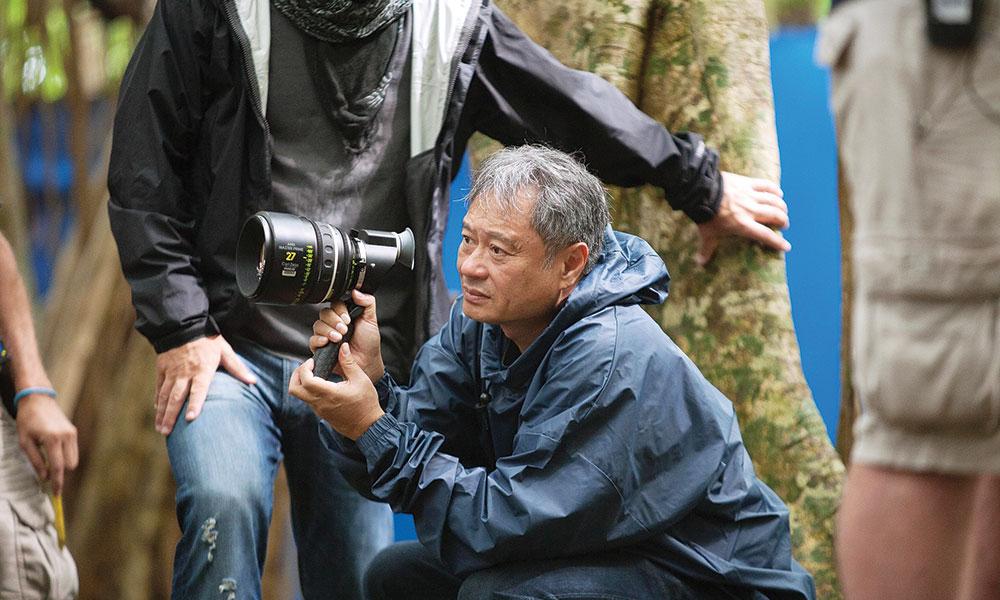 Ang Lee holding a camera