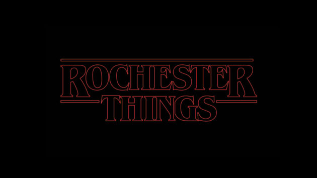 ROCHESTER THINGS written in STRANGER THINGS typeface