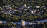 aerial view of University of Rochester
