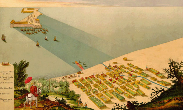 historical print of Veracruz