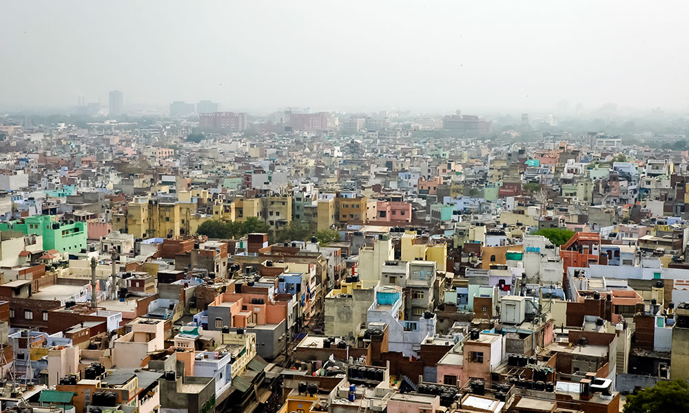 city skyline of New Delhi