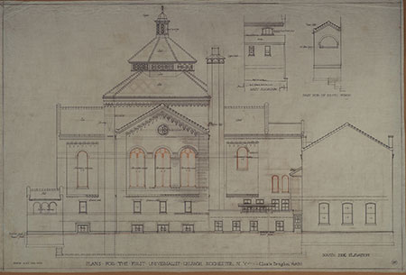architectural blueprints of First Universalist Church