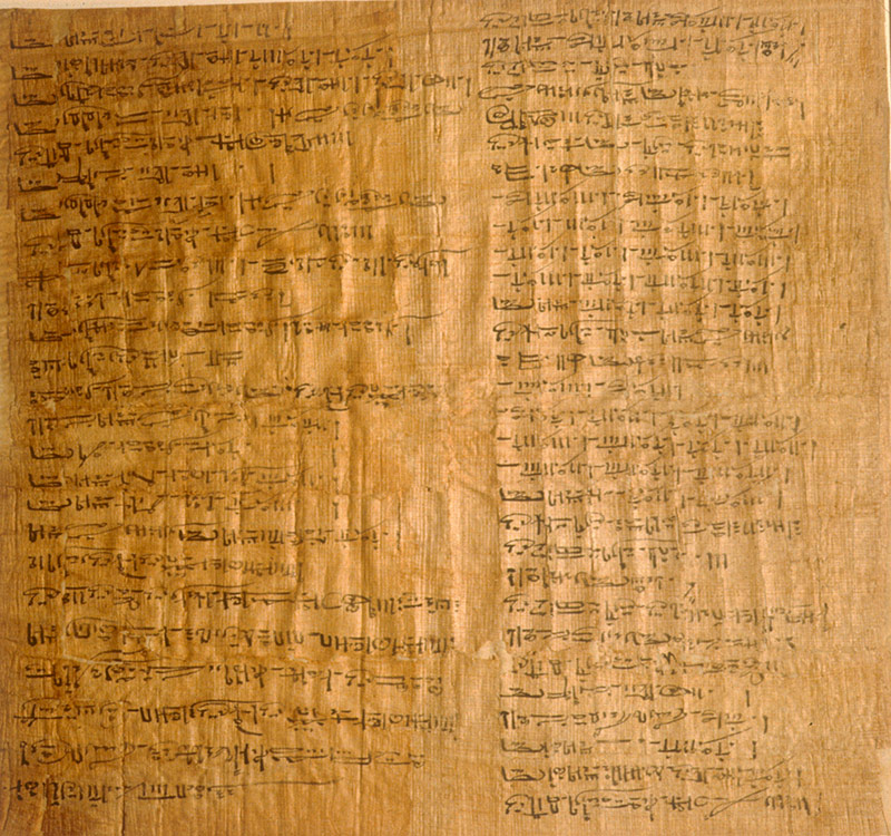 scan from a large sheet of papyrus writing