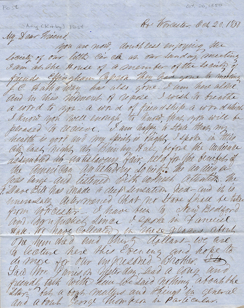 long page of handwritten text from a letter