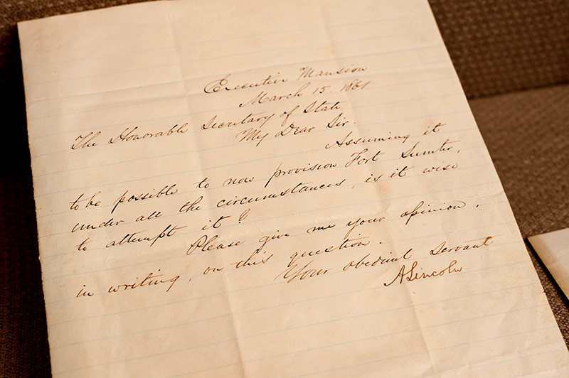 handwritten letter with the signature A LINCOLN
