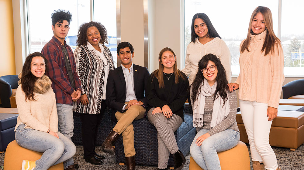 group portrait of students from Puerto Rico