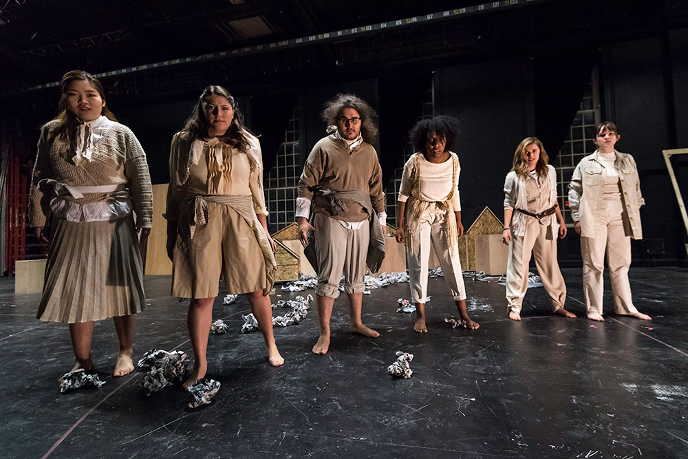 student cast of We Don't Live on Mars Yet on stage