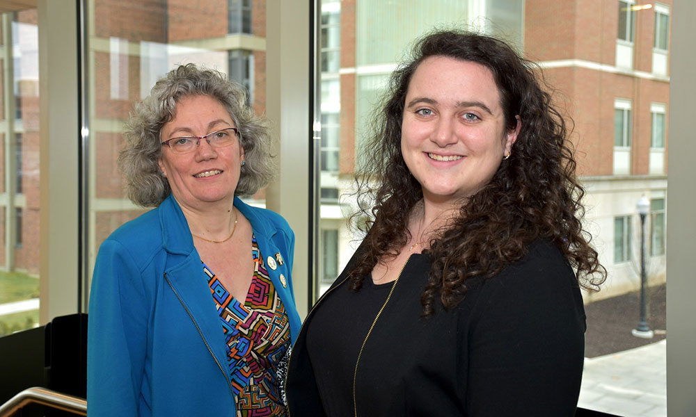 Amy Lerner and Antoinette Esce '15 cochair the Commission on Women and Gender Equity in Academia