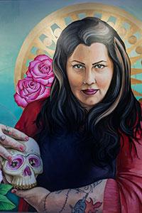 painting of Rachel McKibbins