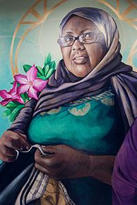 painting of Safi Osman
