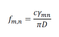 formul reads fm,n = cymn over pi D