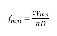 formul reads fm,n = cymn over pi D