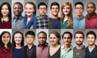 collage of 16 individual portraits