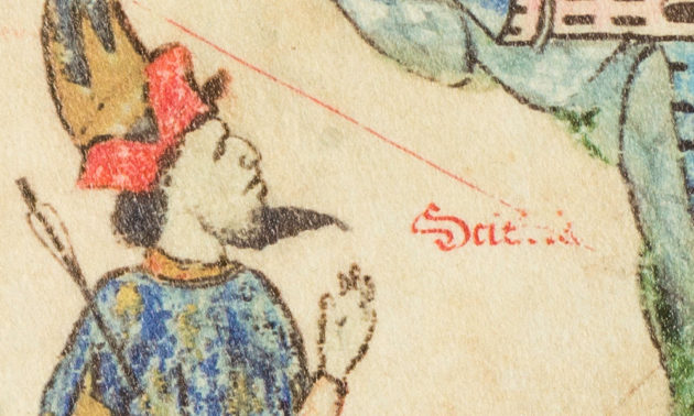 detail from 15th century atlas