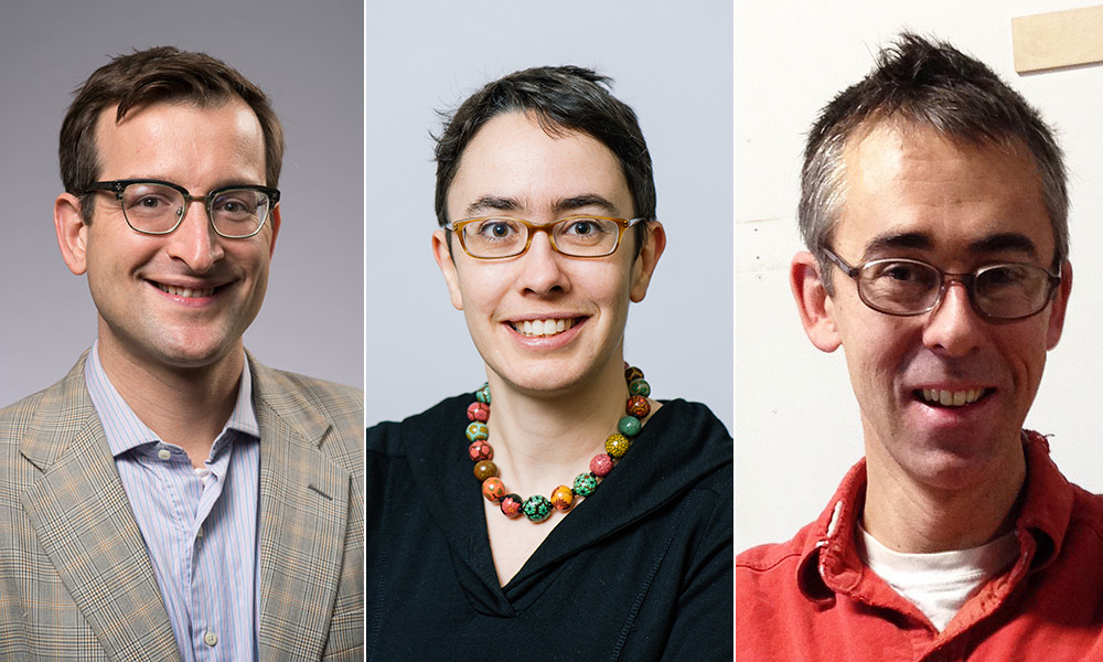 portraits of three faculty members