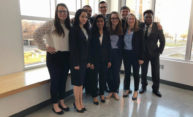 group portrait of Mock Trial team