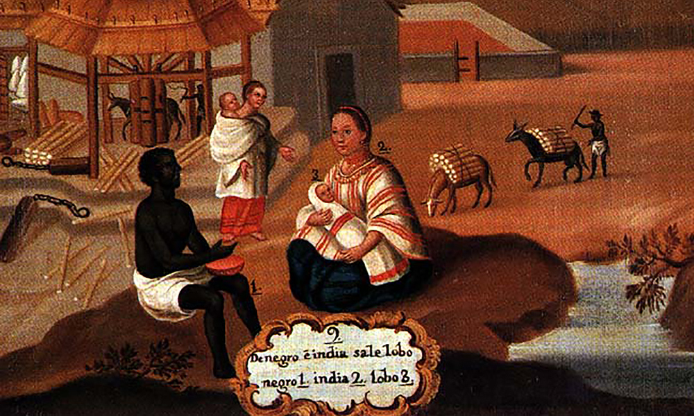 18th century painting showing a slave sale