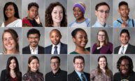 Collage of 18 student portraits