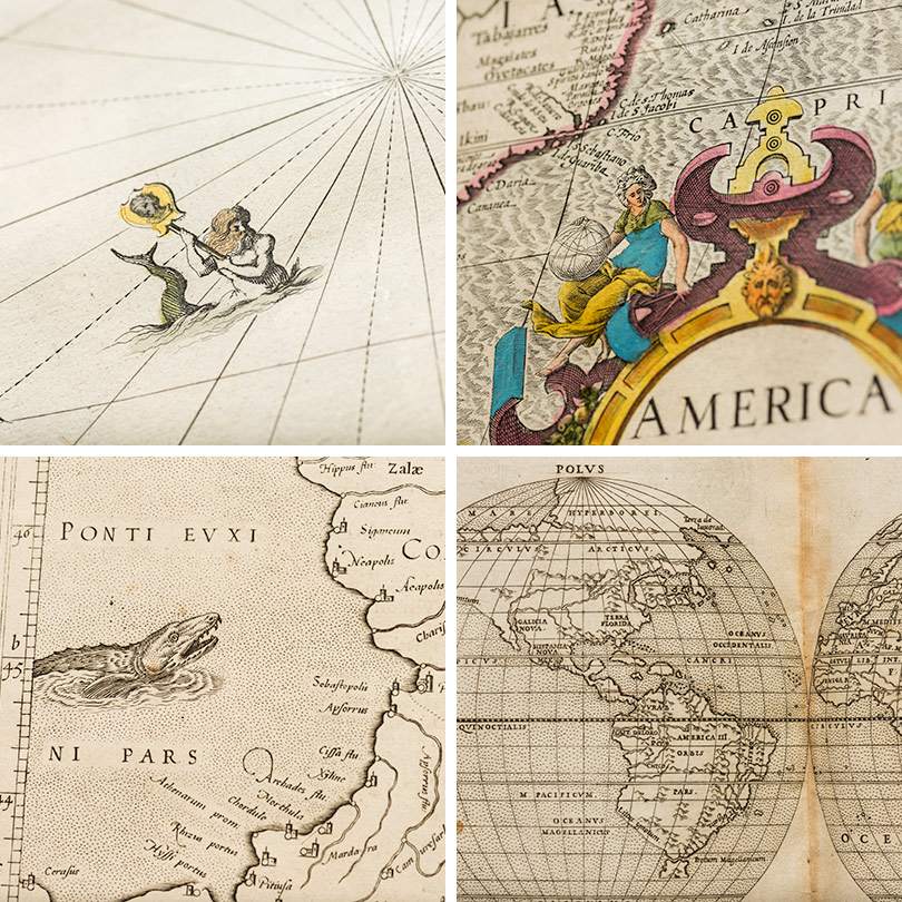 four thumbnail images from four different atlases