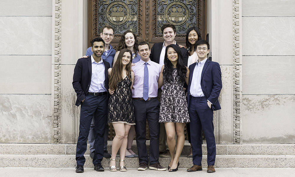 members of the senior class council for the Class of 2018